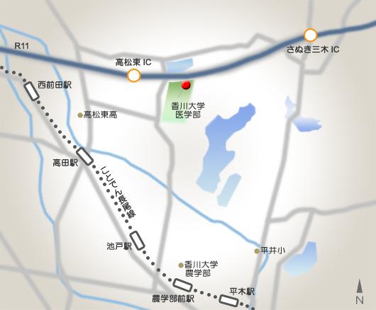 医学部分館地図