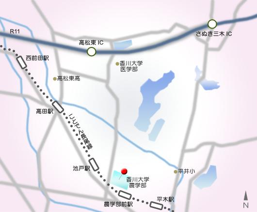 農学部分館地図
